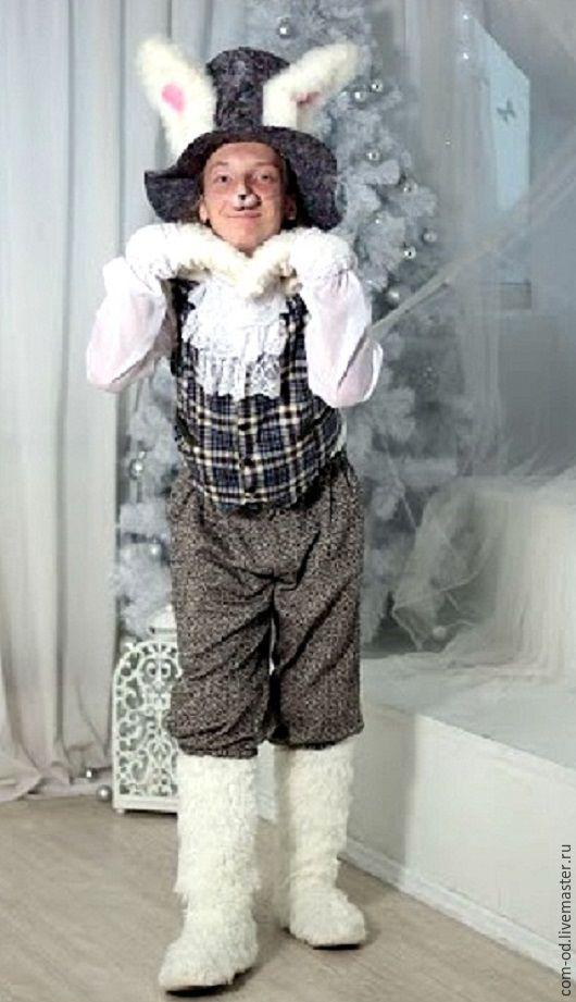 Карнавальные костюмы ручной работы. Ярмарка Мастеров - ручная работа. Купить костюм Белого Кролика. Handmade. Разноцветный, праздники, спектакль