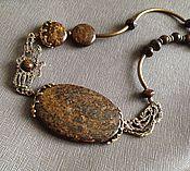 Украшения handmade. Livemaster - original item Choker short feel to the stone. Bronzit, designer brass. Handmade.