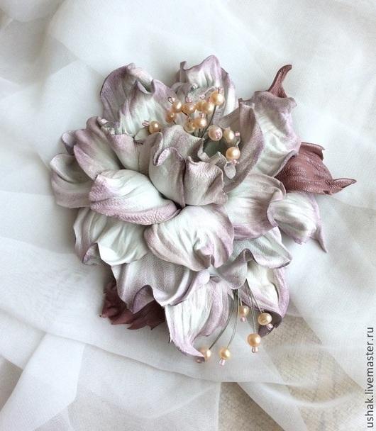 Серенада любви с натуральным розовым жемчугом