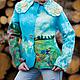 Пиджаки, жакеты ручной работы. Валяный Жакет Небо над полем. AneleStudio. Интернет-магазин Ярмарка Мастеров. Рисунок, облака