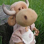 Куклы и игрушки ручной работы. Ярмарка Мастеров - ручная работа Июнька, коровка для вашего интерьера.. Handmade.
