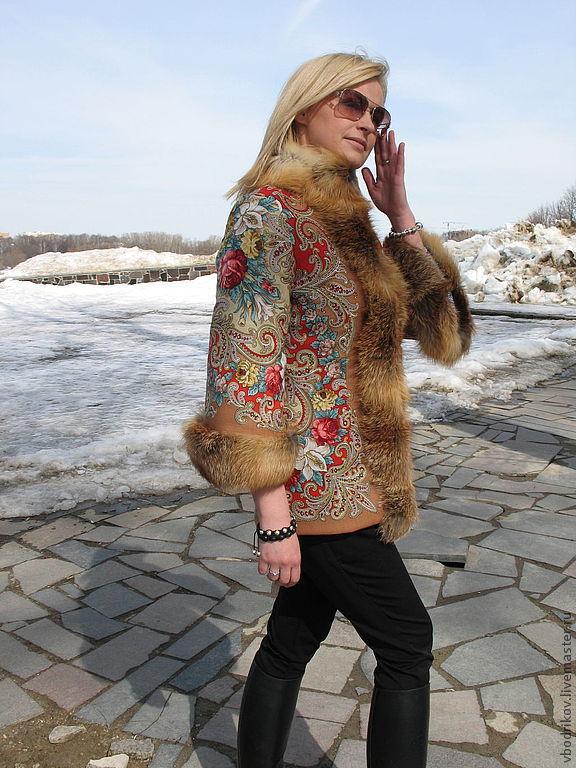 """Куртка """" Русские узоры """" - 8, Верхняя одежда, Долгопрудный, Фото №1"""