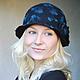 """Шляпы ручной работы. Шляпка """"Бирюзовые капли"""". Shellen's HATS. Интернет-магазин Ярмарка Мастеров. Шляпка, цветок, капли"""