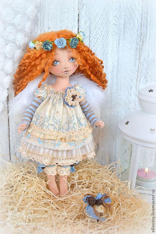 Коллекционные куклы ручной работы. Ярмарка Мастеров - ручная работа. Купить Аришка - рыжий Ангел, текстильная кукла. Handmade. Рыжий