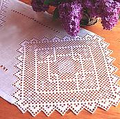 Для дома и интерьера handmade. Livemaster - original item Track, doily, embroidery, linen, openwork, diamonds. Handmade.