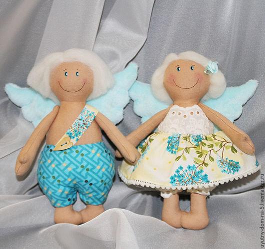 Ангелочки-неразлучники. Куклы ручной работы. Для влюбленных. Ручная работа.