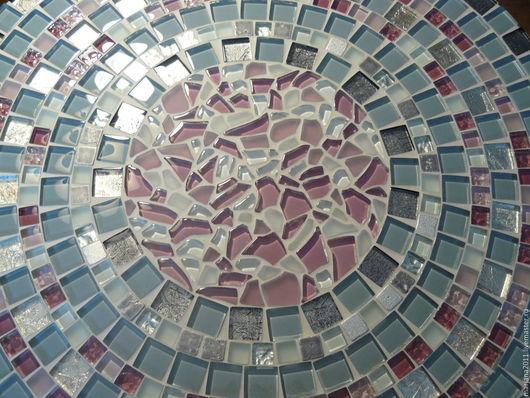 """Мебель ручной работы. Ярмарка Мастеров - ручная работа. Купить Мозаичный столик придиванный """"Beautiful Grey"""". Handmade. Мозаика, подарок"""