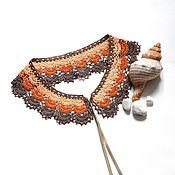 Аксессуары handmade. Livemaster - original item Lace collar crochet No. №45 tri-color. Handmade.