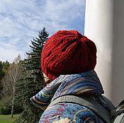 """Аксессуары ручной работы. Ярмарка Мастеров - ручная работа Шапка-шарф вязаные """"Кленок"""". Handmade."""