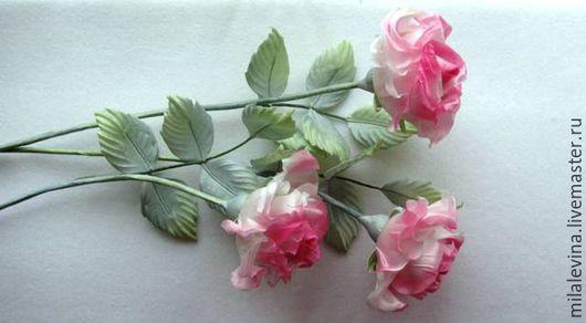 Цветы ручной работы. Ярмарка Мастеров - ручная работа. Купить Интерьерные розовые розы из шёлка.. Handmade. Розовый, розы из шелка
