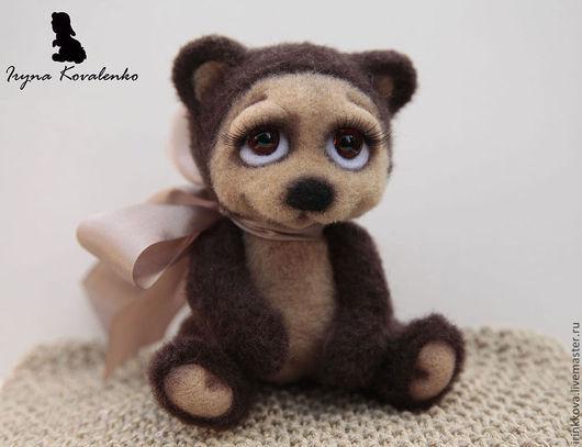 Мишки Тедди ручной работы. Ярмарка Мастеров - ручная работа. Купить Бонифаций. Handmade. Коричневый, войлочная игрушка, медведь игрушка