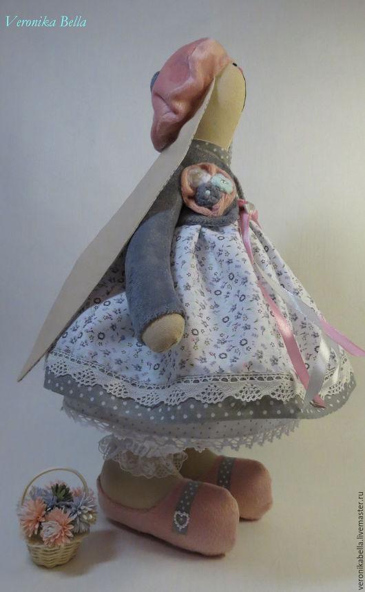 Куклы Тильды ручной работы. Ярмарка Мастеров - ручная работа. Купить Зайка Тильда Рози. Handmade. Хлопок 100%, серый