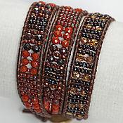 Украшения handmade. Livemaster - original item Bracelet, Chan Lou Rowan. Bracelet winding. Terracotta. Handmade.