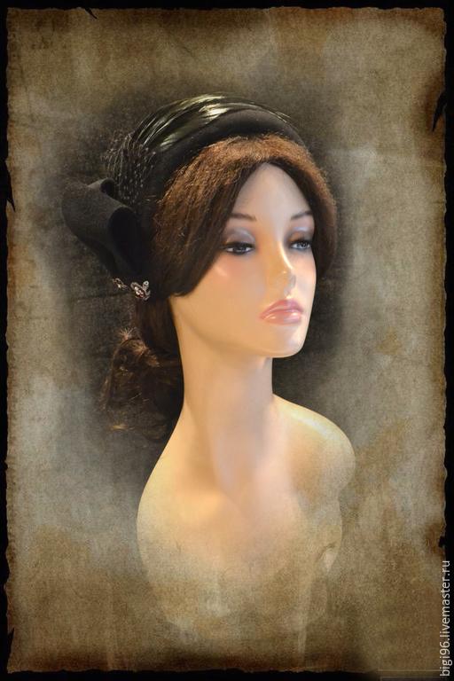 """Шляпы ручной работы. Ярмарка Мастеров - ручная работа. Купить """"Менингитка"""". Handmade. Черный, шляпа женская"""