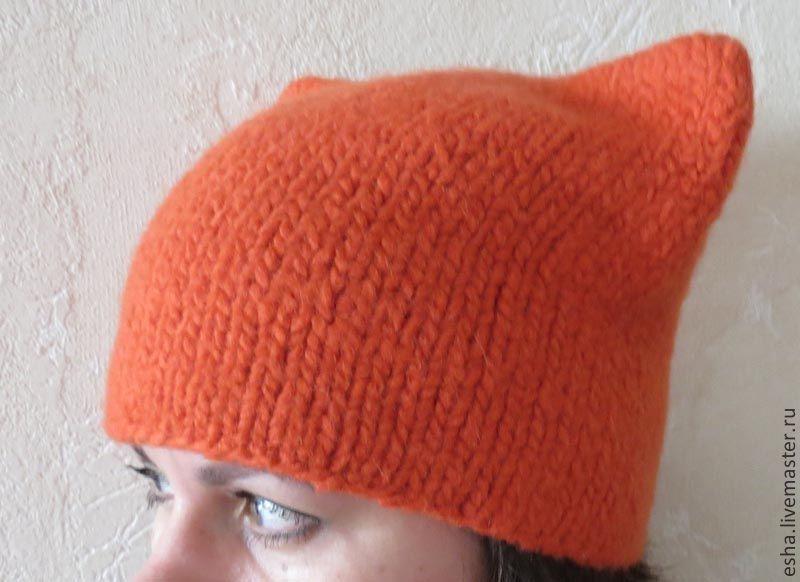 Купить шапка с ушками, лисошапка - рыжий, шапка, шапка ...