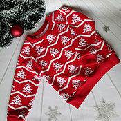Работы для детей, ручной работы. Ярмарка Мастеров - ручная работа Продан.Новогодние свитера( свитшоты) для деток. Handmade.