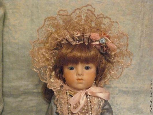 Одежда для кукол ручной работы. Ярмарка Мастеров - ручная работа. Купить Наряд для антикварной куклы. Handmade. Голубой, шёлк
