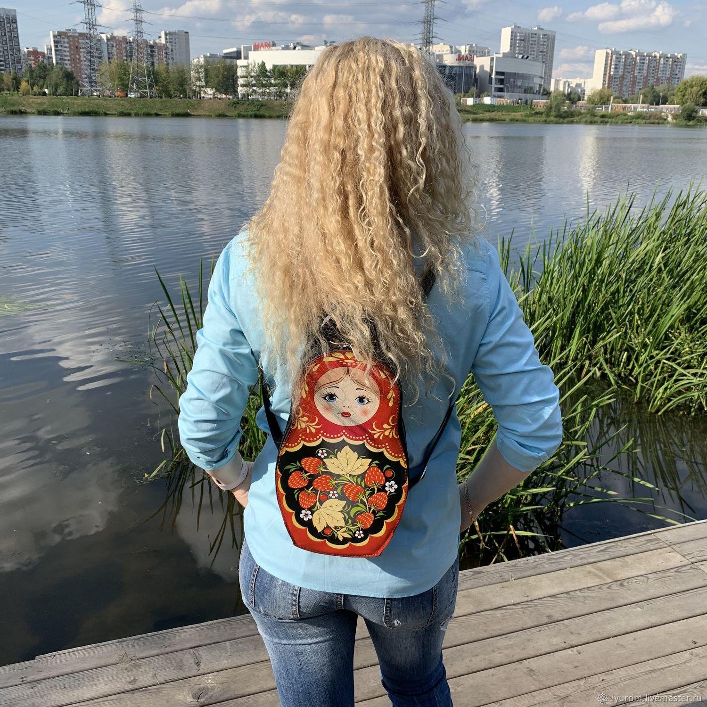 """Женский кожаный рюкзак """" Матрешка"""", Рюкзаки, Москва,  Фото №1"""