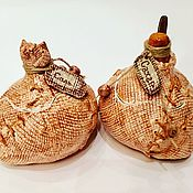 Для дома и интерьера ручной работы. Ярмарка Мастеров - ручная работа Набор солонка и сахарница керамические Мешочки. Handmade.