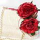 Женские сумки ручной работы. Ярмарка Мастеров - ручная работа. Купить Сумочка с красными розами. Handmade. Белый