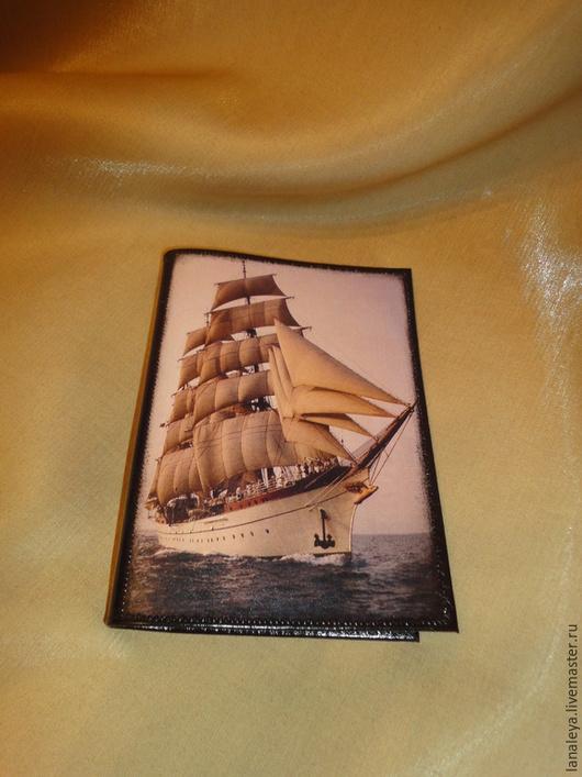 """Обложки ручной работы. Ярмарка Мастеров - ручная работа. Купить """"О море мечтая..."""" обложка для паспорта. Handmade. Разноцветный"""