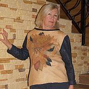"""Одежда ручной работы. Ярмарка Мастеров - ручная работа свитер валяный  """" Осенняя рапсодия"""" nunofelt. Handmade."""