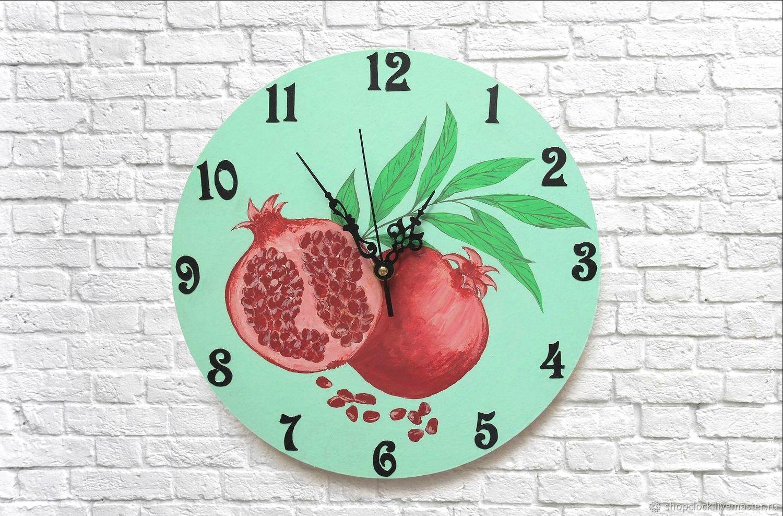 Kitchen Wall Clock Pomegranate Acrylic Painting Kupit Na Yarmarke Masterov J2o9xcom Chasy Klassicheskie Novosibirsk