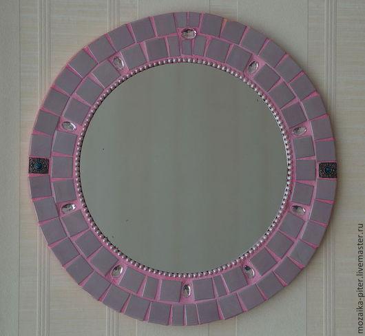 Зеркала ручной работы. Ярмарка Мастеров - ручная работа. Купить Зеркало, мозаика. Handmade. Розовый, мозаика, стекло, мозаика, зеркало