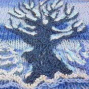Одежда ручной работы. Ярмарка Мастеров - ручная работа Зимний лес - уютный вязаный жилет с вышивкой. Handmade.