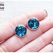 Украшения handmade. Livemaster - original item The earrings with a coating of jewelry resin. Handmade.