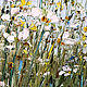 Order Oil painting with small white daisies in a field. Zabaikalie. Livemaster. . Pictures Фото №3