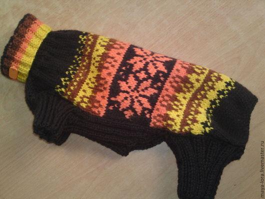 """Одежда для собак, ручной работы. Ярмарка Мастеров - ручная работа. Купить Одежда для собак. Комбинезон """"Зимний жаккард"""". Handmade. теплый"""