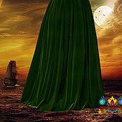 """Одежда ручной работы. Ярмарка Мастеров - ручная работа Бархатная зеленая юбка """"Ренессанс"""". Handmade."""
