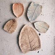 Посуда ручной работы. Ярмарка Мастеров - ручная работа наборы листьев. Handmade.