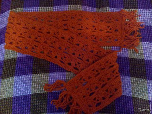 Шарфы и шарфики ручной работы. Ярмарка Мастеров - ручная работа. Купить шарф. Handmade. Однотонный, рыжий, шерсть