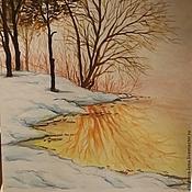 Картины и панно ручной работы. Ярмарка Мастеров - ручная работа Золотая зима. Handmade.