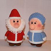 Подарки к праздникам ручной работы. Ярмарка Мастеров - ручная работа Дед Мороз и Бабушка Снегурочка. Handmade.