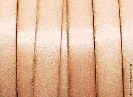 Для украшений ручной работы. Ярмарка Мастеров - ручная работа. Купить Кожаный шнур 10х2мм, бежевый. Handmade. Бежевый