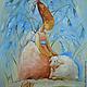 Фантазийные сюжеты ручной работы. Ярмарка Мастеров - ручная работа. Купить Потеряшка. Картина маслом. Handmade. Ангел, подарок ребенку