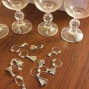 Посуда ручной работы. Ярмарка Мастеров - ручная работа Подвески на бокалы в ассортименте. Handmade.