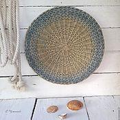 Для дома и интерьера ручной работы. Ярмарка Мастеров - ручная работа Тарелка плетеная Следы на песке. Handmade.