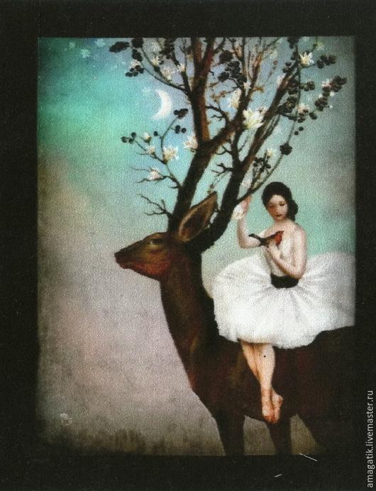 Девушка с оленем