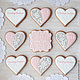 Order Gingerbread Hearts 'Lace'. prynik. Livemaster. . Gingerbread Cookies Set Фото №3