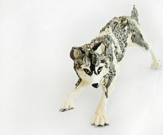 """Игрушки животные, ручной работы. Ярмарка Мастеров - ручная работа. Купить фигурка """"Волк"""" (крупный). Handmade. Волк, статуэтки"""