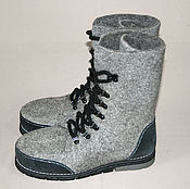 Обувь ручной работы handmade. Livemaster - original item Mens felted shoes ankle Boots. Handmade.