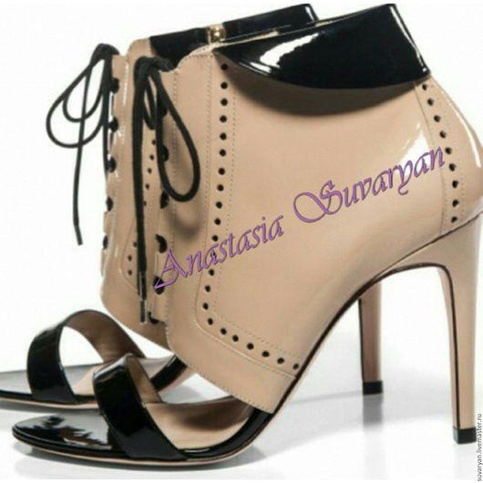 Обувь ручной работы. Ярмарка Мастеров - ручная работа. Купить ботинки. Handmade. Бежевый, ботинки, ботинки женские