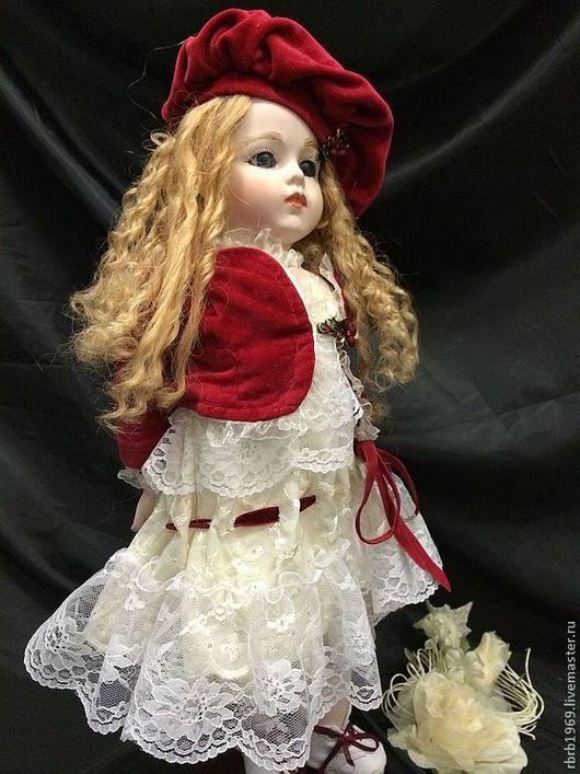 """Коллекционные куклы ручной работы. Ярмарка Мастеров - ручная работа. Купить """"Что в именени твоем....""""(реплика Брю). Handmade. Бордовый"""