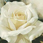 Материалы для творчества ручной работы. Ярмарка Мастеров - ручная работа Схема вышивки крестом Белая роза. Handmade.