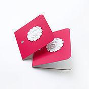 Материалы для творчества ручной работы. Ярмарка Мастеров - ручная работа двойные бирки / мини-открытки. Handmade.