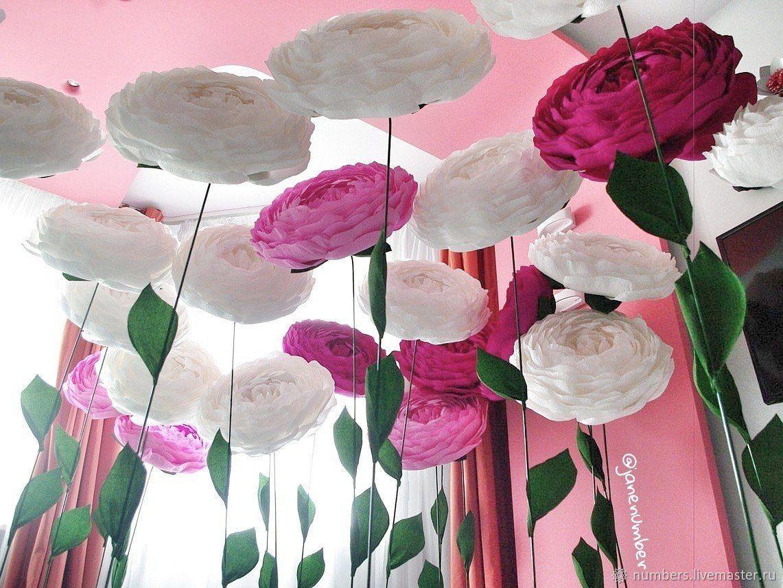 Большие пионы на стальной ножке, Цветочный декор, Москва,  Фото №1